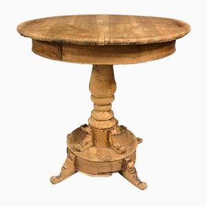 Tavolo rotondo in noce, XIX secolo