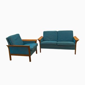 Danish Rosewood Sofa & Armchair Set, 1964