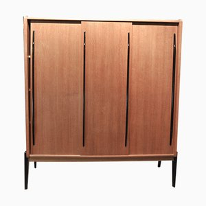 Oak Veneer Wardrobe with Sliding Doors, 1950s