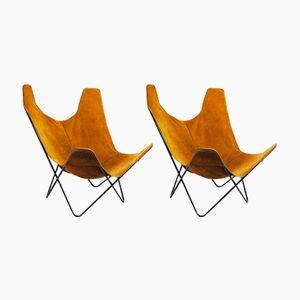 Butterfly Stühle von Jorge Hardoy-Ferrari für Knoll, 1970er, 2er Set