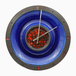 Fat Lava Style Ceramic Clock from Junghans and Kingo Keramik, 1960s