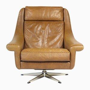 Matador Swivel Leather Chair by Aage Christiansen for Erhardsen & Andersen, 1960s