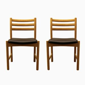 Danish Dining Chairs by Poul M. Volther for Søborg Møbelfabrik, 1960s, Set of 2