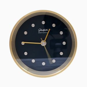 Modernist Desk Clock from Glashutte, 1975