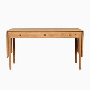 Danish Oak Veneered AT 305 Desk by Hans J. Wegner for Andreas Tuck, 1950s