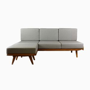 Mid-Century Sofa Bed with Pouf from Tatra, 1960s