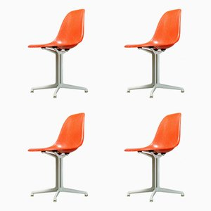 La Fonda Side Chairs by Charles & Ray Eames for Vitra, 1950s, Set of 4