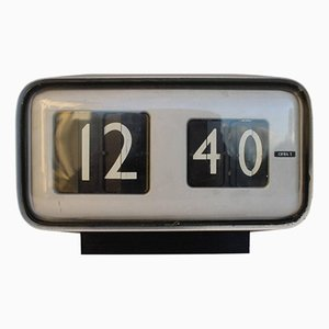 Cifra 5 Table Clock by Gino Valle for Solari of Udine, 1950s