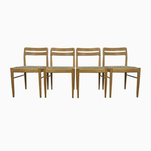 Danish Oak Dining Chairs by H.W. Klein for Bramin, 1970s, Set of 4
