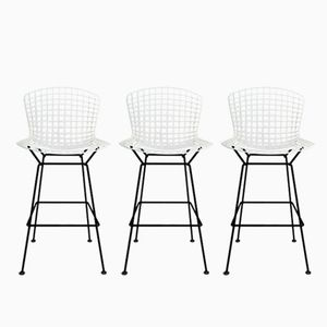 Mid-Century Bar Stools by Harry Bertoia for Knoll, Set of 3