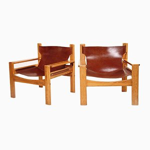 Dutch Saddle Chairs by Børge Mogensen, 1950s, Set of 2