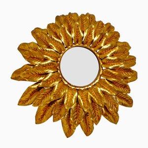 Specchio vintage a forma di sole, Italia, anni '70