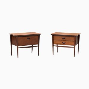 Dutch Night Stands by Louis van Teeffelen for WéBé, 1950s, Set of 2