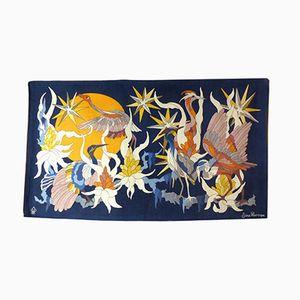 Vintage Wandteppich mit Vogel Motiv von Jane Larroque