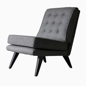 Grey Wool TV Chair from G-Plan, 1950s