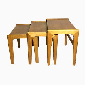 Mid-Century Scandinavian Nesting Table Set, 1960s