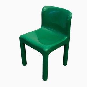 Modell 4875 Beistellstuhl in Grün von Carlo Bartoli für Kartell, 1970er