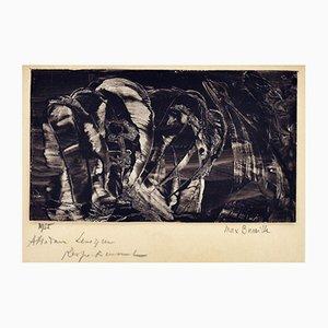 Gouache Papier Drucken von Max Bucaille, 1955