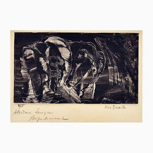 Stampa con pittura a guazzo di Max Bucaille, 1955