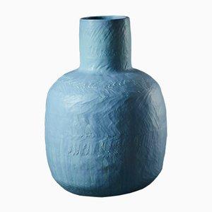 Large Blue Ceramic Stoneware Vase by Daniel Reynolds, 2017