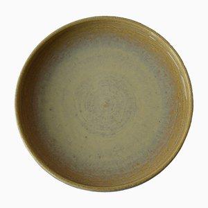 Große Gelbe Keramik Schale von Per Linnemann-Schmidt für Palshus, 1960er