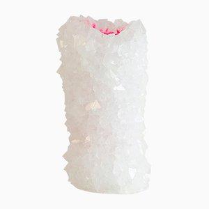 Neon Crystal Vase in Pink von Isaac Monté, 2018