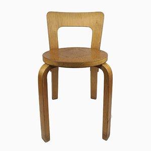 Vintage Modell 65 Stuhl von Alvar Aalto für Artek, 1960er