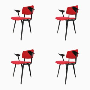 Revolt Armchairs by Friso Kramer for Ahrend Cirkel, 1958, Set of 4