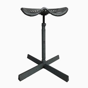 Industrial Steel Stool with Rotating Seat