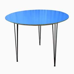 Blue Formica Side Table from Imexcotra, 1950s