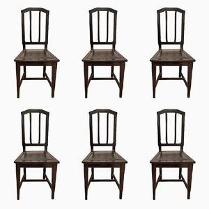 Vintage Jugendstil Esszimmer Stühle, 6er Set