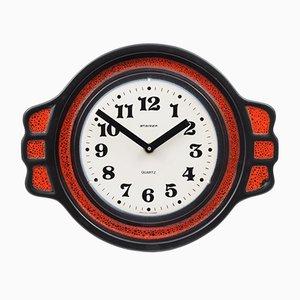 Fat Lava Ceramic Clock from Steiger, 1970s