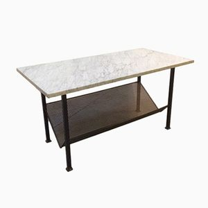 Vintage Coffee Table in Metal and Marble