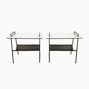 Tables d'Appoint TM04 Vintage avec Porte-Revues par Cees Braakman pour Pastoe, Set de 2