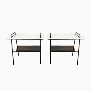 Vintage TM04 Side Tables with Magazine Rack by Cees Braakman for Pastoe, Set of 2