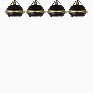 Model SP20 Recessed Ceiling Lights by Stilnovo, 1960s, Set of 4