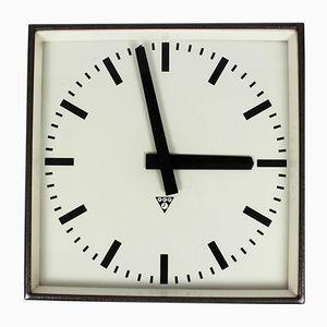 Large Industrial Railway Clock from Pragotron, 1980s
