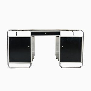 Vintage Bauhaus Style Tubular Steel Desk