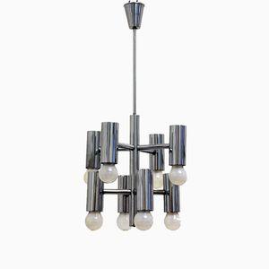 Vintage Bauhaus Style Chrome Chandelier