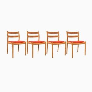 Modell Nr. 84 Eiche Stühle von Niels Otto Moller, 4er Set