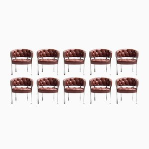 Lobby Chairs by Robert Haussmann for Dietiker, 1983, Set of 10