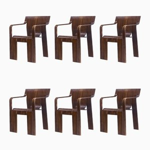 Strip Chairs by Gijs Bakker for Castelijn, 1970s, Set of 6