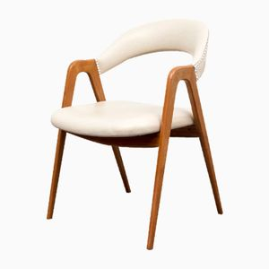 Cherrywood Chair with Scissor Base from WK Möbel, 1950s