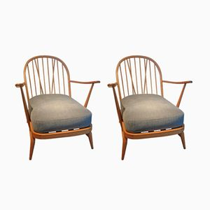 Windsor Lounge Chairs by Lucian Ercolani for Ercol, 1956, Set of 2