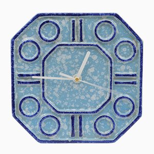 Ceramic Wall Clock from Keramo Kozlany, 1970s