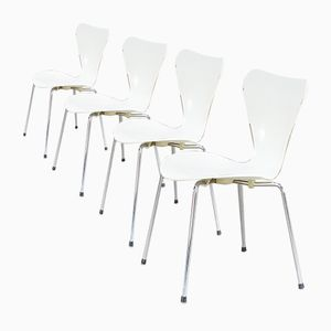 Mid-Century Butterfly Chair by Arne Jacobsen for Fritz Hanzen, Set of 4