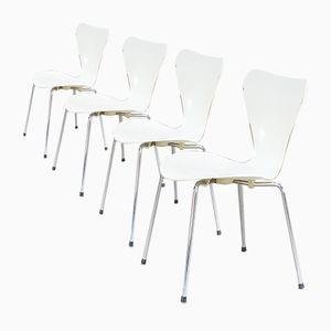 Mid-Century Butterfly Chair von Arne Jacobsen für Fritz Hanzen, 4er Set