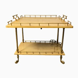 Cream Lacquered Drinks Trolley by Aldo Tura, 1960s