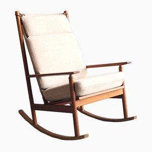 Rocking-Chair Modèle 532A de Hans Olsen pour Juul Kristensen, 1960s