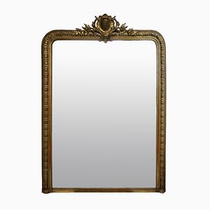 Antique Napoleon III Gilt Wood Mirror